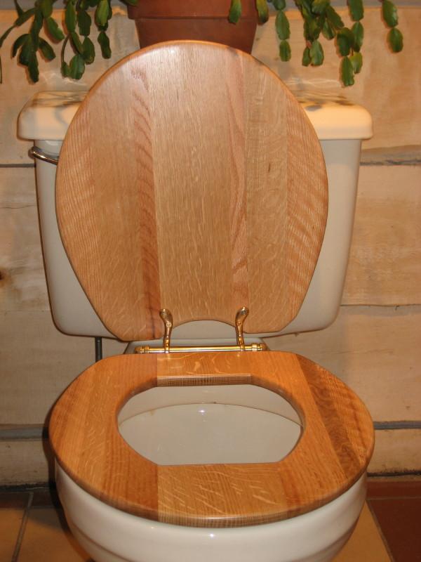 toilet wooden seat